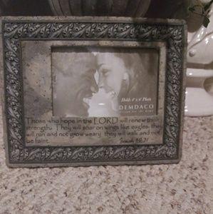 NWOT Demdaco 4x6 Scriptural Photo Frame